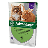 Advantage spot on flea treatment for large cats and rabbits